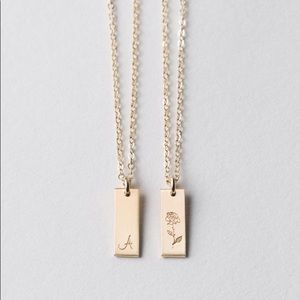 Jewelry - Rose Gold Tag Necklace